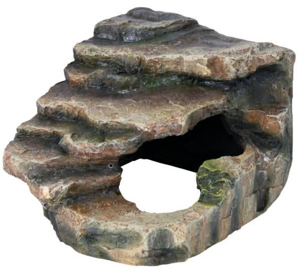 Eckfels mit Höhle M Regenwald