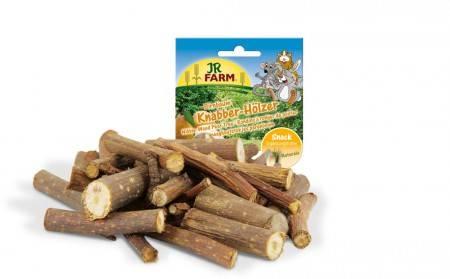 JR Farm Knabber-Hözer Birnbaum mit Verpackung