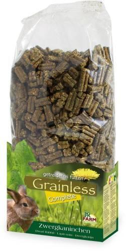 JR Farm Grainless Complete Zwergkaninchen mit Verpackung