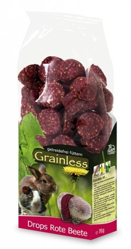 JR Farm Grainless Drops Rote Beete mit Verpackung