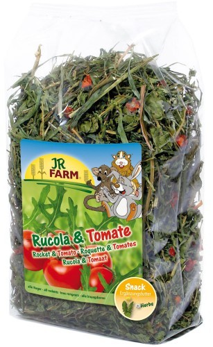 JR Farm Rucola & Tomate mit Verpackung
