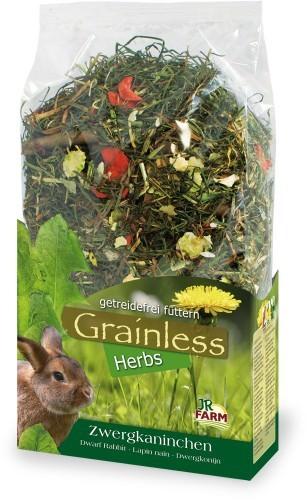 JR Grainless Herbs Zwergkaninchen mit Verpackung