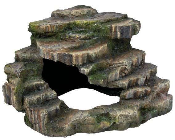 Eckfels mit Höhle S Regenwald