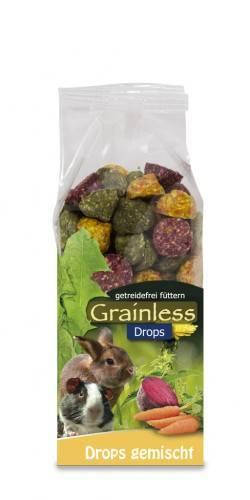 JR Farm Grainless Drops gemischt mit Verpackung